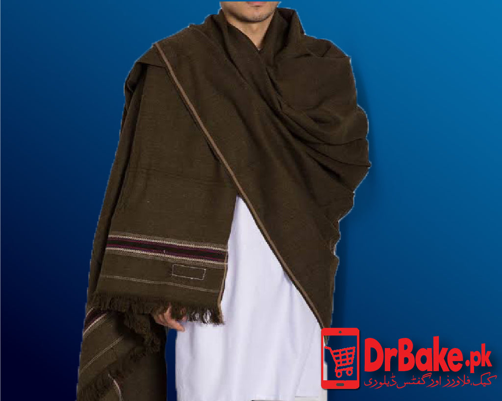 Send Dark Green Shawl to Pakistan with DrBake.pk