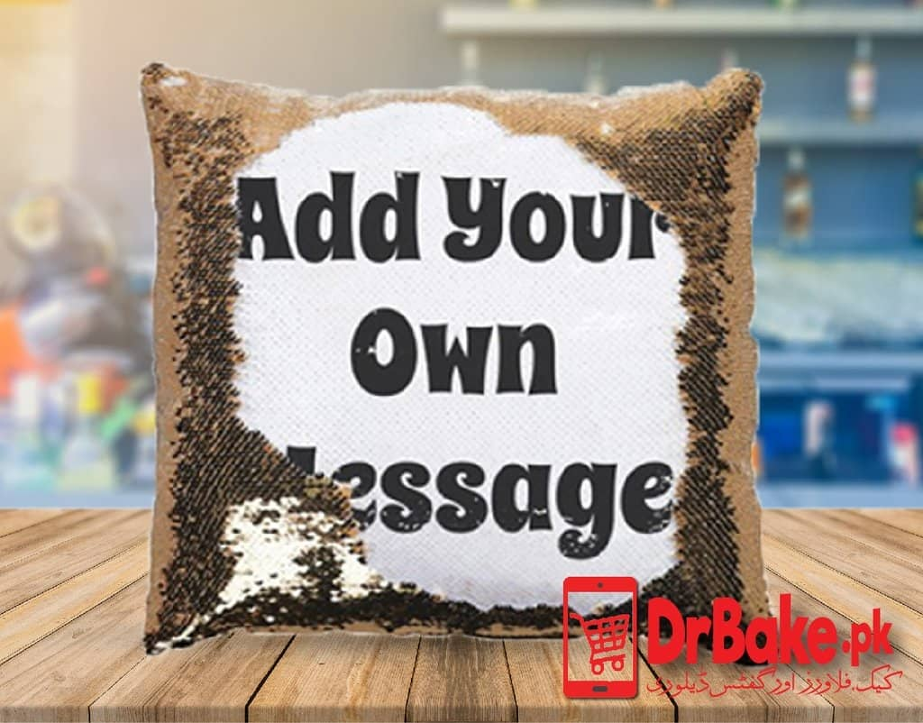 Send Glitter Customized Cushion to Pakistan with DrBake.pk