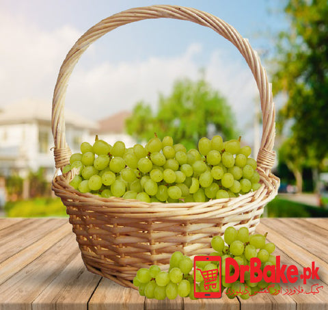 Send 2 Kg Grapes Basket To Pakistan | DrBake.pk