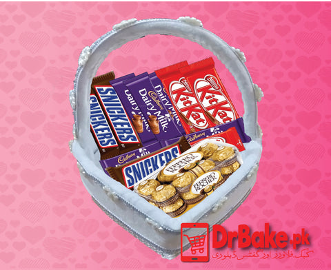 Mix Chocolate Basket - Dr Bake Pakistan Send gifts to Lahore, Karachi, Islamabad, Pakistan