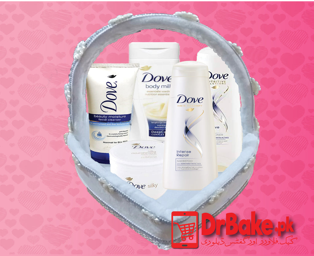 Dove Basket-For Women - Dr Bake Pakistan Send gifts to Lahore, Karachi, Islamabad, Pakistan
