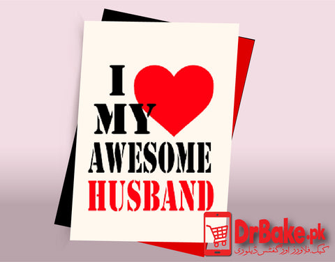 Card For Your Husband (Customized) - Dr Bake Pakistan Send gifts to Lahore, Karachi, Islamabad, Pakistan