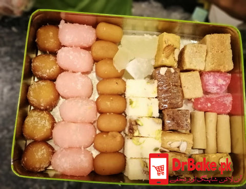 2 kg Mix Mithai/ Sweets - Dr Bake Pakistan Send gifts to Lahore, Karachi, Islamabad, Pakistan