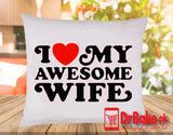 Send I Love My Wife Cushion to Pakistan with DrBake.pk