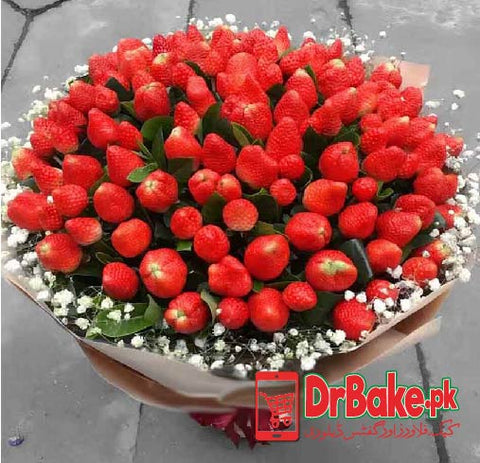 Send Jumbo Strawberry Bouquet to Pakistan with DrBake.pk