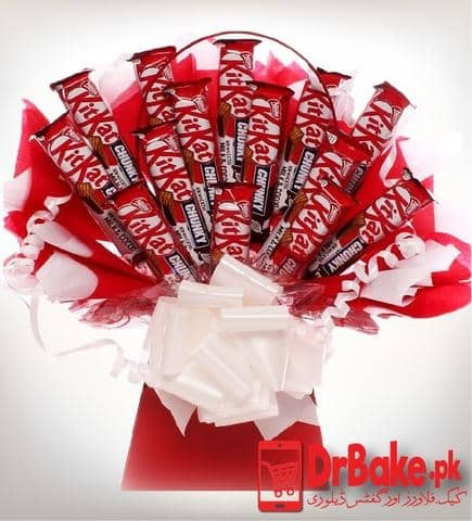 KitKat Chocolate Bouquet - Dr Bake Pakistan Send gifts to Lahore, Karachi, Islamabad, Pakistan