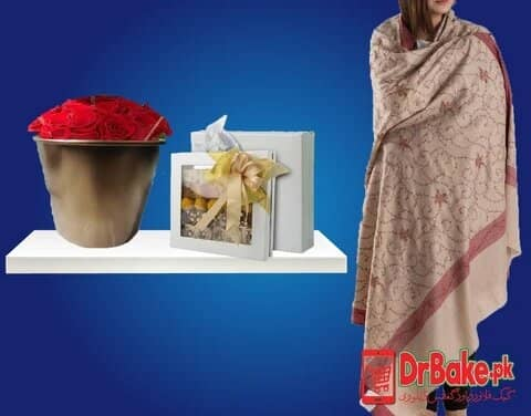 Ladies Shawl With Prime Sweet Box Deal - Dr Bake Pakistan Send gifts to Lahore, Karachi, Islamabad, Pakistan