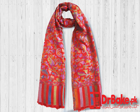 Send Red Shawl to Pakistan with DrBake.pk