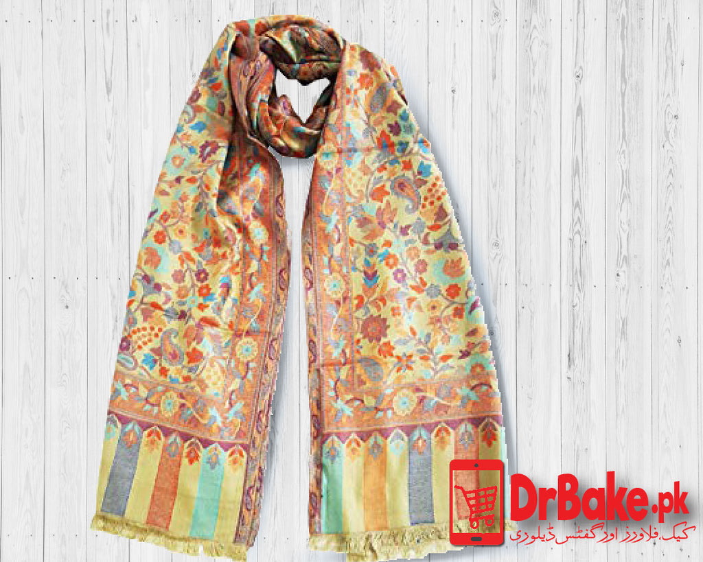 Yellow Shawl For Women - Dr Bake Pakistan Send gifts to Lahore, Karachi, Islamabad, Pakistan