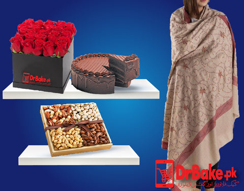 Send Ladies Shawl Deal to Pakistan with DrBake.pk