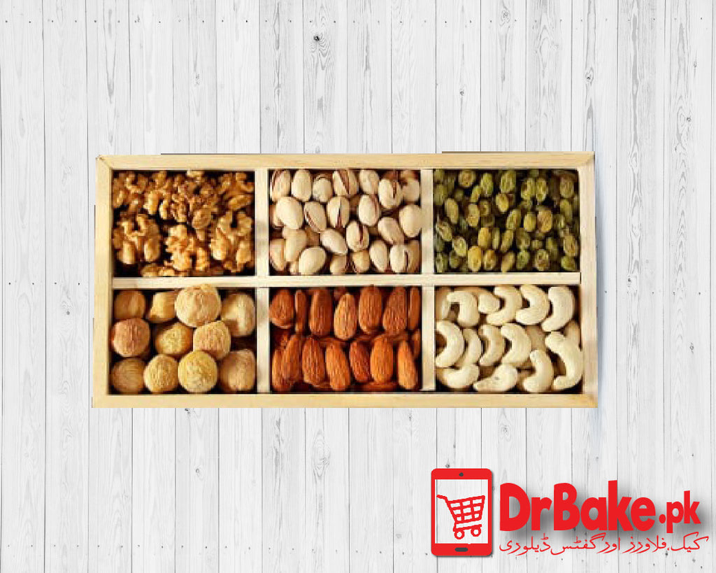 2kg Mix Dry Fruits Tray - Dr Bake Pakistan Send gifts to Lahore, Karachi, Islamabad, Pakistan