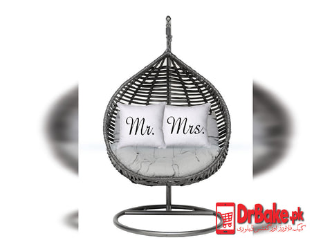 Swing Chair With Mr & Mrs Cushion (Only For Lahore) - Dr Bake Pakistan Send gifts to Lahore, Karachi, Islamabad, Pakistan