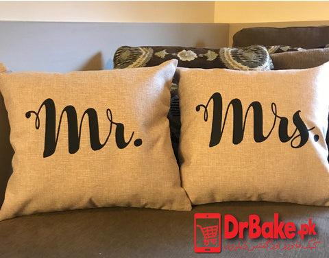Send Mr and Mrs Customized Pillow to Pakistan with DrBake.pk