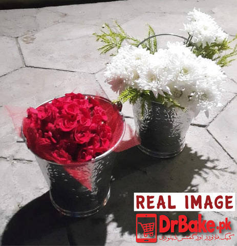 Send Mr & Mrs Flower Basket To Pakistan | DrBake.pk