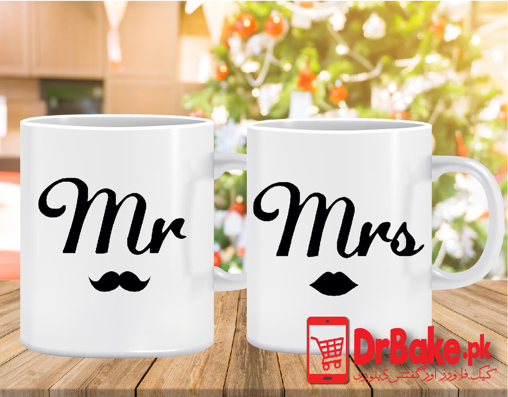 Send Mr and Mrs Customized Mug to Pakistan with DrBake.pk