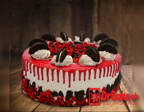 Send Bread & Beyond Oreo Red Velvet Cake to Lahore with DrBake.pk