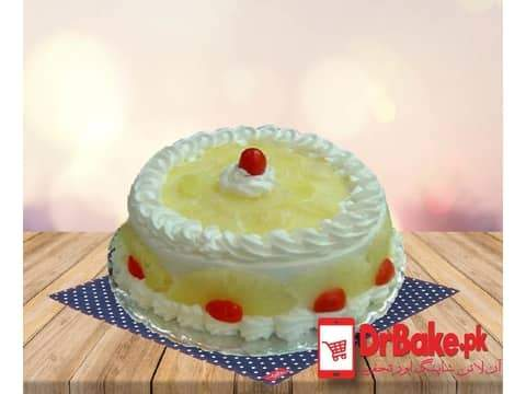 1lb Pineapple Cake-Mj's bakery-Islamabad - Dr Bake Pakistan Send gifts to Lahore, Karachi, Islamabad, Pakistan