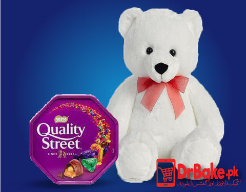 Send Teddy Bear with Quality Street to Pakistan | DrBake.pk