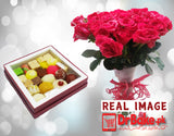 Send Mix Sweet with Red Roses to Pakistan | DrBake.pk