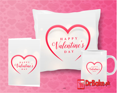 Valentine's Day Customize Cushion, Mug & Card Combo