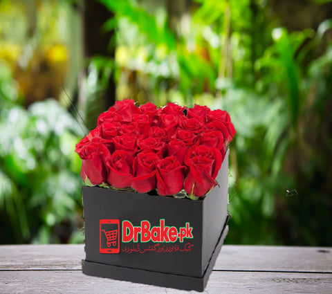 24 Fresh Red Roses Box