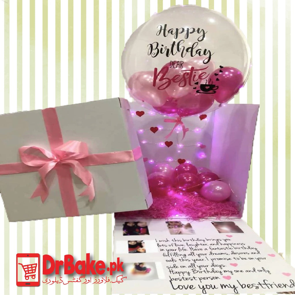 Premium Surprise Balloon Box with Personalized Pictures- Lahore Only - Dr Bake Pakistan Send gifts to Lahore, Karachi, Islamabad, Pakistan
