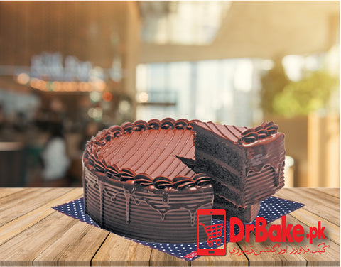 Chocolate Fudge Cake-Holiday Inn-Lahore - Dr Bake Pakistan Send gifts to Lahore, Karachi, Islamabad, Pakistan