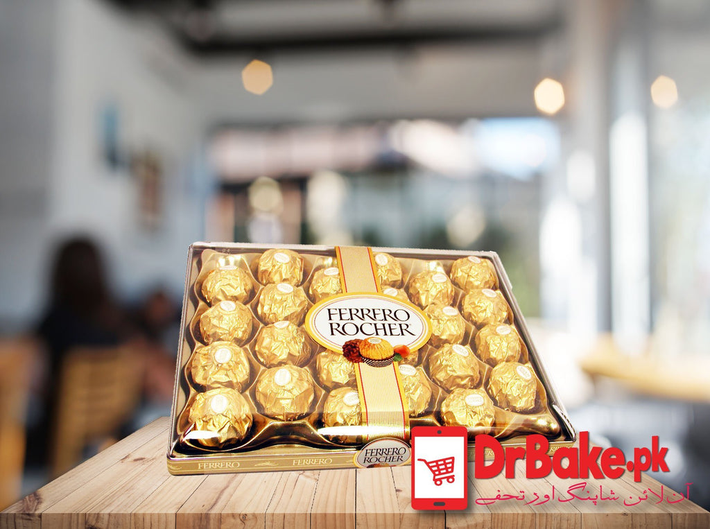 24 Pcs Ferrero Rocher Box - Dr Bake Pakistan Send gifts to Lahore, Karachi, Islamabad, Pakistan