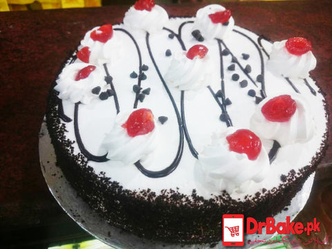 1lb Black forest cake-Mj's bakery-Islamabad/Rawalpindi - Dr Bake Pakistan Send gifts to Lahore, Karachi, Islamabad, Pakistan