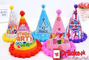 Send 5 Colorful Birthday Caps To Pakistan | DrBake.pk