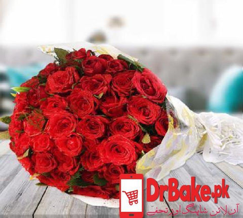 60 (Local) Roses Bunch - Dr Bake Pakistan Send gifts to Lahore, Karachi, Islamabad, Pakistan