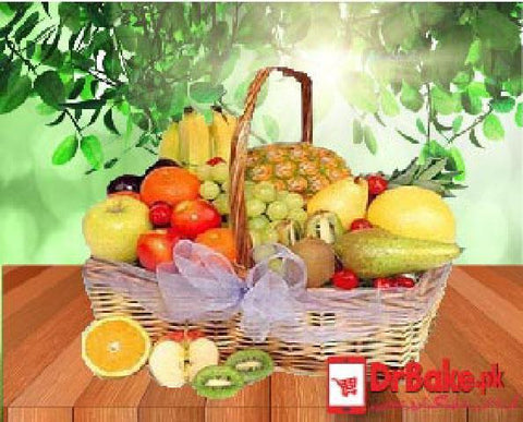 8 Kg MIxed Fruit Basket - Dr Bake Pakistan Send gifts to Lahore, Karachi, Islamabad, Pakistan