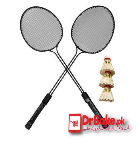 Badminton Racket With Shuttle Cocks - Dr Bake Pakistan Send gifts to Lahore, Karachi, Islamabad, Pakistan