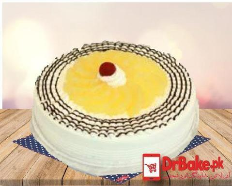 1lb Pineapple Cake-Kitchen Cuisine Lahore - Dr Bake Pakistan Send gifts to Lahore, Karachi, Islamabad, Pakistan