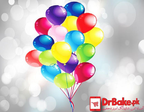 50 Balloons-Hydrogen Filled - Dr Bake Pakistan Send gifts to Lahore, Karachi, Islamabad, Pakistan
