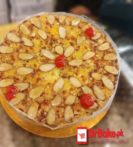 Almond Cake-Lahore-Gourmet Bakery - DrBake.pk Send gifts to Lahore, Send gifts to Karachi, Send gifts to Islamabad, Send gifts to Rawalpindi