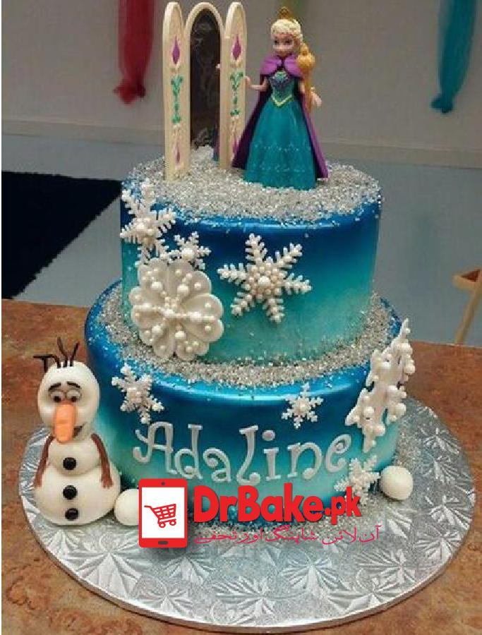 Edible Fountain Cake-(Branded Bakery)-Karachi - Dr Bake Pakistan Send gifts to Lahore, Karachi, Islamabad, Pakistan