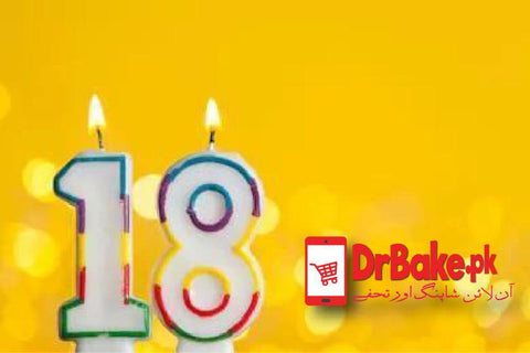 Birthday Number Candles - Dr Bake Pakistan Send gifts to Lahore, Karachi, Islamabad, Pakistan
