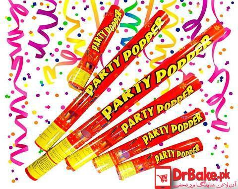 Party Poppers (4 PCs) - Dr Bake Pakistan Send gifts to Lahore, Karachi, Islamabad, Pakistan