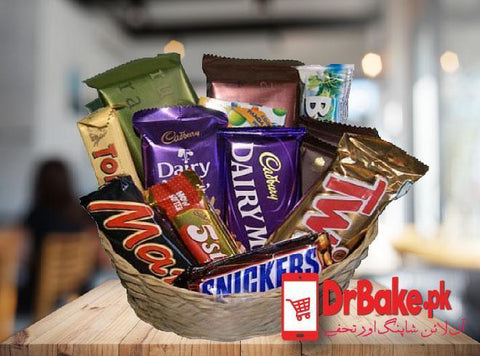 Chocolates Basket + FREE GIFT PACKING - Dr Bake Pakistan Send gifts to Lahore, Karachi, Islamabad, Pakistan
