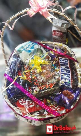 Large Chocolates Basket + FREE GIFT PACKING - Dr Bake Pakistan Send gifts to Lahore, Karachi, Islamabad, Pakistan