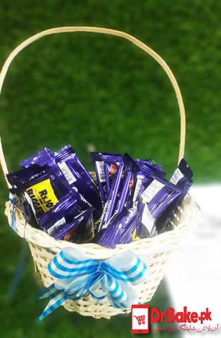 Dairy Milk Basket+ FREE GIFT PACKING (24 Pcs 11 gram each) - Dr Bake Pakistan Send gifts to Lahore, Karachi, Islamabad, Pakistan