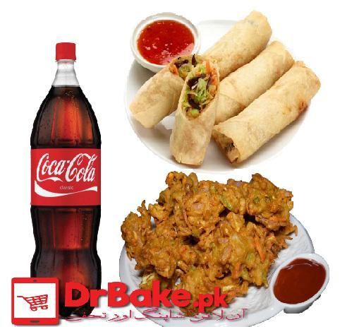 Chicken Roll With Pakory & Cold Drink - Dr Bake Pakistan Send gifts to Lahore, Karachi, Islamabad, Pakistan