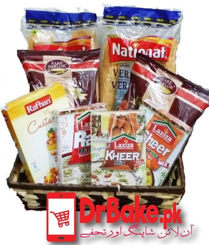 Essential Eid Basket - Dr Bake Pakistan Send gifts to Lahore, Karachi, Islamabad, Pakistan