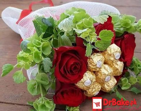 Ferrero Rocher Bouquet - Dr Bake Pakistan Send gifts to Lahore, Karachi, Islamabad, Pakistan