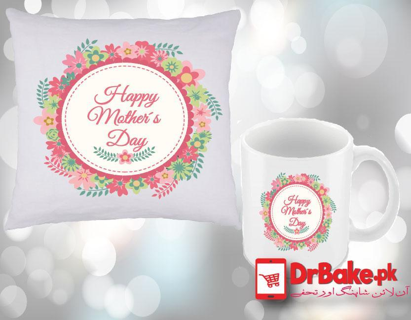 DrBake.pk Flowers Printed Cushion & Mug (Any Picture)