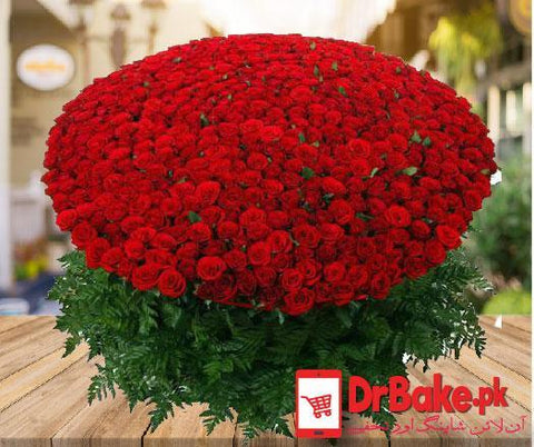 250 Fresh Roses Bouquet - Dr Bake Pakistan Send gifts to Lahore, Karachi, Islamabad, Pakistan