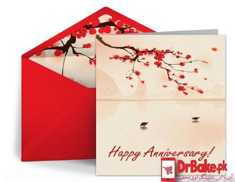 Happy Anniversary Card - Dr Bake Pakistan Send gifts to Lahore, Karachi, Islamabad, Pakistan