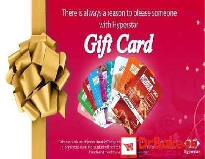 HyperStar Gift Card(Card Value=Rs. 1000) - Dr Bake Pakistan Send gifts to Lahore, Karachi, Islamabad, Pakistan