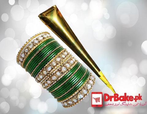 Send Choori Set and Cone Mehndi to Pakistan | DrBake.pk